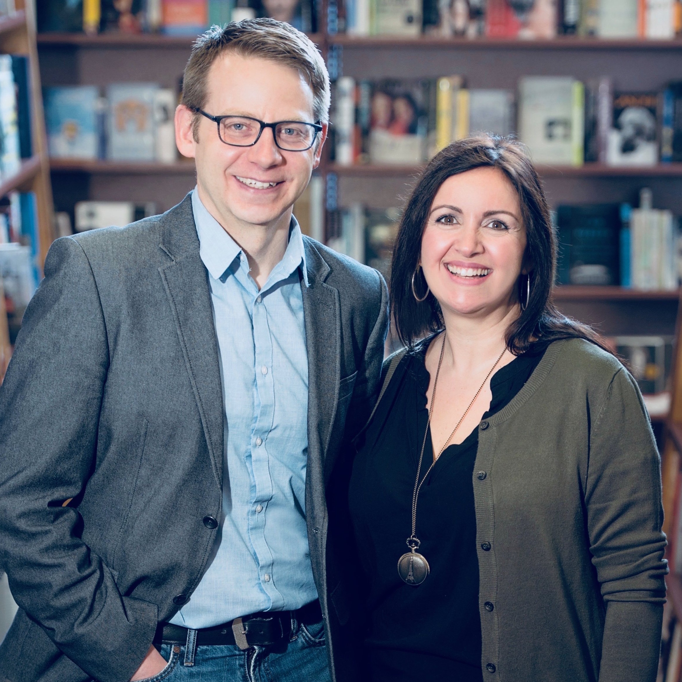 A photo of Angie Counios and David Gane, authors of the Shepherd and Wolfe series.